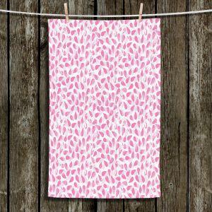 Unique Bathroom Towels | Metka Hiti - Drops of Jupiter Pink | Pattern abstract dots circle