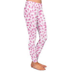 Casual Comfortable Leggings | Metka Hiti - Drops of Jupiter Pink | Pattern abstract dots circle