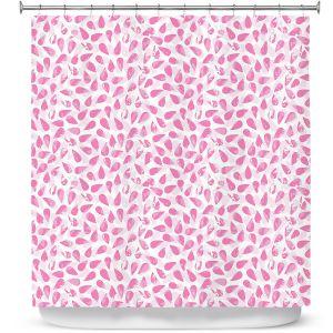 Premium Shower Curtains | Metka Hiti - Drops of Jupiter Pink | Pattern abstract dots circle