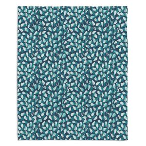Artistic Sherpa Pile Blankets | Metka Hiti - Drops Of Jupiter Teal
