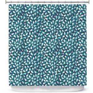 Premium Shower Curtains | Metka Hiti - Drops Of Jupiter Teal