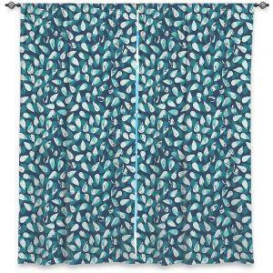 Decorative Window Treatments   Metka Hiti - Drops Of Jupiter Teal