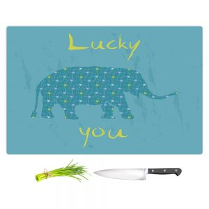 Artistic Kitchen Bar Cutting Boards | Metka Hiti - Elephant Lucky You