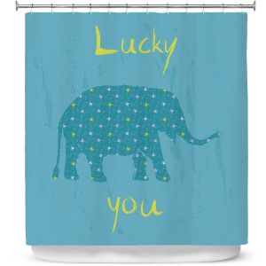 Premium Shower Curtains | Metka Hiti - Elephant Lucky You