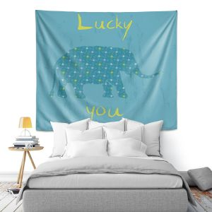 Artistic Wall Tapestry | Metka Hiti - Elephant Lucky You