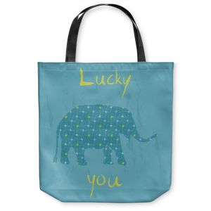 Unique Shoulder Bag Tote Bags |Metka Hiti - Elephant Lucky You