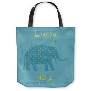 Unique Shoulder Bag Tote Bags |Metka Hiti - Elephant Lucky You