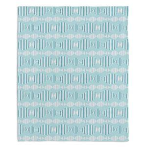 Decorative Fleece Throw Blankets | Metka Hiti - Fish In A Row