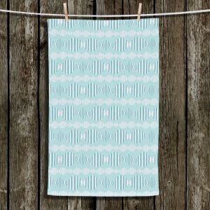 Unique Hanging Tea Towels | Metka Hiti - Fish In A Row | Patterns Fish Rows