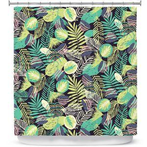 Premium Shower Curtains | Metka Hiti - Flamingo Jungle
