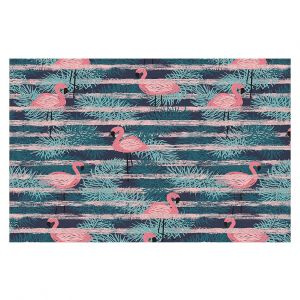 Decorative Floor Covering Mats | Metka Hiti - Flamingo Lines | Wild Animals Africa Pattern