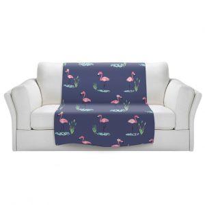 Artistic Sherpa Pile Blankets   Metka Hiti - Flamingo ll