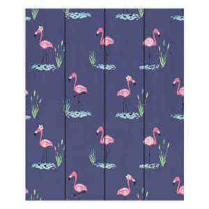 Decorative Wood Plank Wall Art |Metka Hiti - Flamingo ll