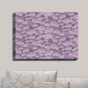 Decorative Canvas Wall Art | Metka Hiti - Flower Field Purple | Flowers Patterns
