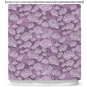 Unique Shower Curtain from DiaNoche Designs by Metka Hiti - Flower Field Purple