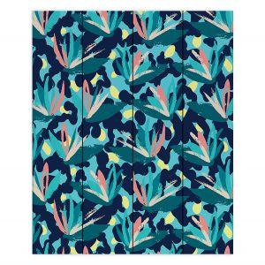 Decorative Wood Plank Wall Art   Metka Hiti - Flower of Paradize   Floral Flowers pattern