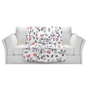 Artistic Sherpa Pile Blankets | Metka Hiti - Flower Power