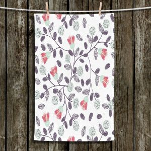 Unique Hanging Tea Towels | Metka Hiti - Flower Power | Flowers Patterns