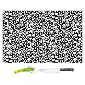 Artistic Kitchen Bar Cutting Boards | Metka Hiti - Flower Vine | Floral Flowers pattern
