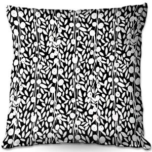 Decorative Outdoor Patio Pillow Cushion | Metka Hiti - Flower Vine | Floral Flowers pattern