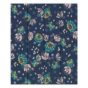 Decorative Wood Plank Wall Art   Metka Hiti - Flowers Diamond   Floral Flowers pattern