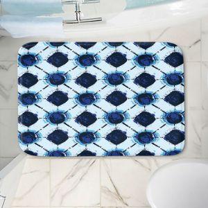 Decorative Bathroom Mats | Metka Hiti - Flowers Geo | Floral Flowers pattern