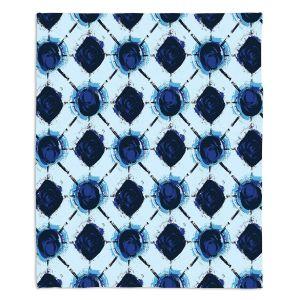Artistic Sherpa Pile Blankets | Metka Hiti - Flowers Geo | Floral Flowers pattern