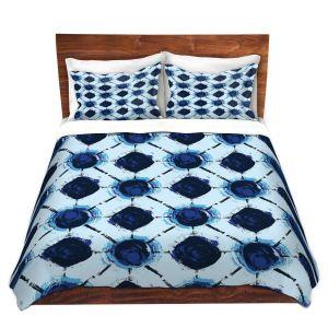 Artistic Duvet Covers and Shams Bedding | Metka Hiti - Flowers Geo | Floral Flowers pattern
