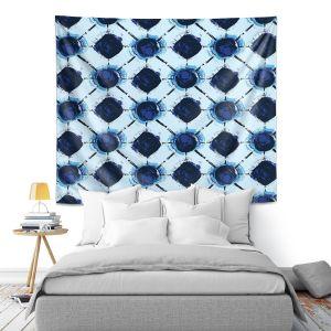 Artistic Wall Tapestry | Metka Hiti - Flowers Geo | Floral Flowers pattern