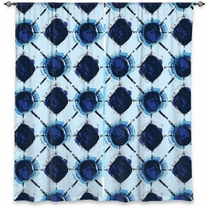Decorative Window Treatments | Metka Hiti - Flowers Geo | Floral Flowers pattern