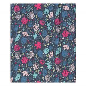 Decorative Wood Plank Wall Art | Metka Hiti - Flowers Marker | Floral Flowers pattern