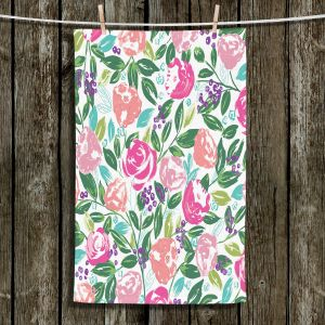 Unique Bathroom Towels | Metka Hiti - Fresh Flowers | Pattern nature floral