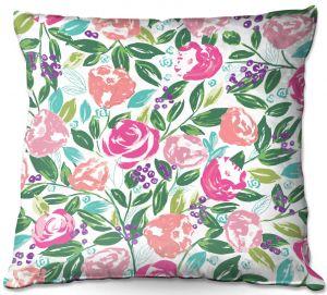 Throw Pillows Decorative Artistic | Metka Hiti - Fresh Flowers | Pattern nature floral