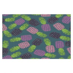 Decorative Floor Covering Mats | Metka Hiti - Fruit Pineapple | Nature food healthy pattern graphic
