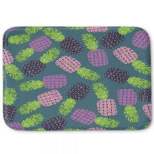 Decorative Bathroom Mats   Metka Hiti - Fruit Pineapple   Nature food healthy pattern graphic