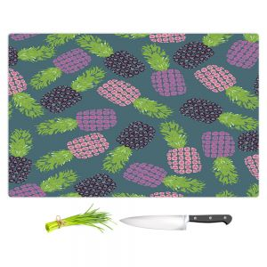 Artistic Kitchen Bar Cutting Boards | Metka Hiti - Fruit Pineapple | Nature food healthy pattern graphic