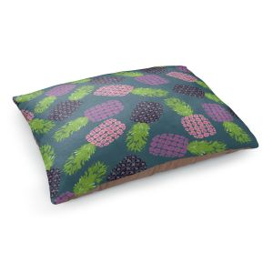 Decorative Dog Pet Beds | Metka Hiti - Fruit Pineapple | Nature food healthy pattern graphic