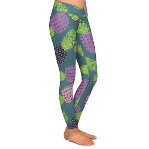 Casual Comfortable Leggings | Metka Hiti - Fruit Pineapple | Nature food healthy pattern graphic
