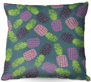 Throw Pillows Decorative Artistic | Metka Hiti - Fruit Pineapple | Nature food healthy pattern graphic