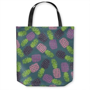 Unique Shoulder Bag Tote Bags | Metka Hiti - Fruit Pineapple | Nature food healthy pattern graphic