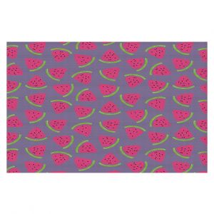 Decorative Floor Covering Mats | Metka Hiti - Fruit Watermelon | Nature food healthy pattern graphic