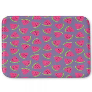 Decorative Bathroom Mats   Metka Hiti - Fruit Watermelon   Nature food healthy pattern graphic