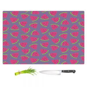 Artistic Kitchen Bar Cutting Boards | Metka Hiti - Fruit Watermelon | Nature food healthy pattern graphic