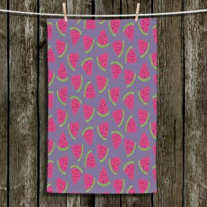 Unique Bathroom Towels | Metka Hiti - Fruit Watermelon | Nature food healthy pattern graphic
