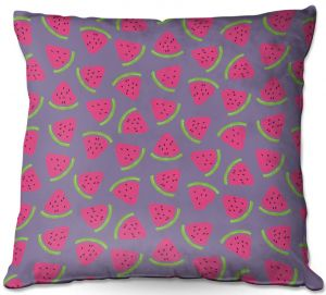 Throw Pillows Decorative Artistic | Metka Hiti - Fruit Watermelon | Nature food healthy pattern graphic