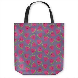 Unique Shoulder Bag Tote Bags | Metka Hiti - Fruit Watermelon | Nature food healthy pattern graphic