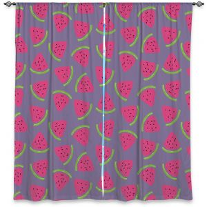 Decorative Window Treatments | Metka Hiti - Fruit Watermelon | Nature food healthy pattern graphic