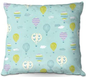 Throw Pillows Decorative Artistic | Metka Hiti - Harlequin Balloons Blue Violet