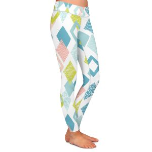 Casual Comfortable Leggings | Metka Hiti - Harlequin Pastel