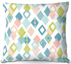 Throw Pillows Decorative Artistic | Metka Hiti - Harlequin Pastel